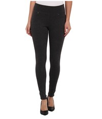 Jag Jeans Ricki Pull On Legging Double Knit Ponte Charcoal Heather Women's Casual Pants Gray