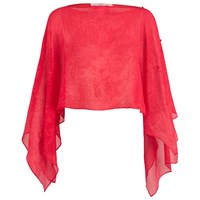 Damsel In A Dress Embossed Shrug Red