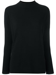 Allude Mock Neck Jumper Black