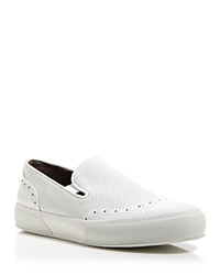 Robert Clergerie Flat Slip On Perforated Sneakers Tilo Oxford White