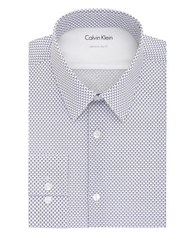 Calvin Klein Extra Slim Fit Printed Dress Shirt Royalty