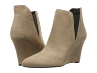 Via Spiga Kenzie Dark Taupe Kid Suede Leather Women's Pull On Boots Beige