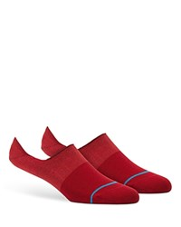 Stance Spectrum Super Invisible Ankle Socks Red