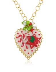 Dolci Gioie Christmas Heart Necklace Red