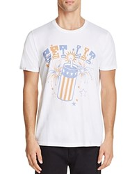 Junk Food Get Lit Graphic Tee Electric White