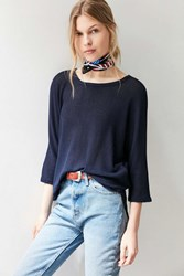 Silence And Noise Silence Noise Miley Dolman Pullover Sweater Navy