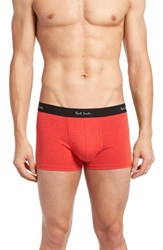 Paul Smith Men's Cotton Trunks Red