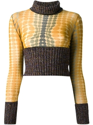 Jean Paul Gaultier Vintage Cropped Two Tone Sweater Brown