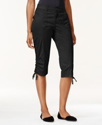 Lee Petite Gabby Cargo Capri Pants Black
