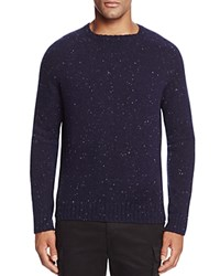 Bloomingdale's The Men's Store At Donegal Cashmere Crewneck Sweater Navy Blue Mutli