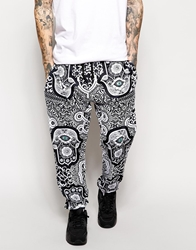 Jaded London Sweatpants In Evil Eye Print Black