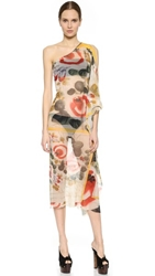 Jean Paul Gaultier One Shoulder Cover Up Multi