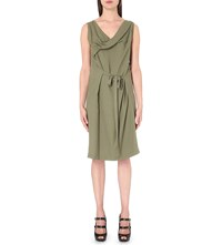 Anglomania Draped Woven Dress Green