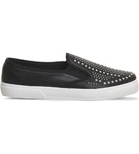 Office Kicker Embellished Skate Shoes Black Stud