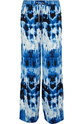 Michael Michael Kors Printed Satin Wide Leg Pants