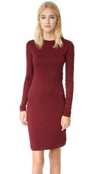 Acne Studios Nalani Tencel Dress Burgundy