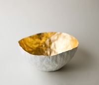 Large Gold Paper Bowl By Upintheairsomewhere On Etsy