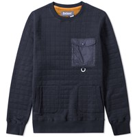 Barbour X White Mountaineering Whiting Sweat Blue