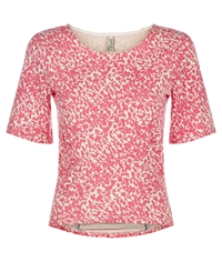 People Tree Greta Abstract Top Pink
