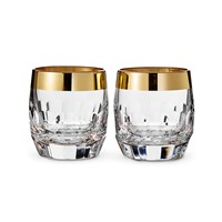 Waterford Draper Dof Tumblers Set Of 2 Gold Band