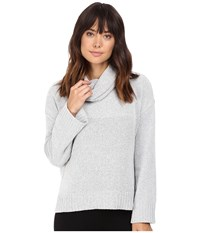 Bb Dakota Marcilly Cowl Neck Sweater Heather Grey Women's Sweater Gray