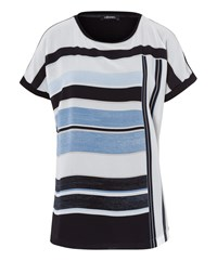 Olsen Stripe Top Light Blue