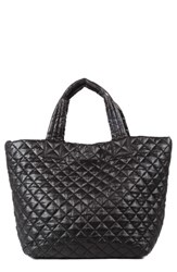M Z Wallace Mz Wallace 'Small Metro' Quilted Oxford Nylon Tote Black Black Oxford