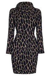 James Lakeland Leopard Cowl Neck Tunic Brown