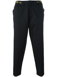 Ganryu Comme Des Garcons Loose Fit Cropped Trousers Black