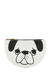 Forever 21 Pug Graphic Makeup Pouch Cream Black