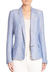 Joie Pernilla Linen Blazer Washed Denim