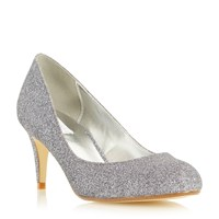 Untold Belight Round Toe Mid Heel Court Shoes Pewter