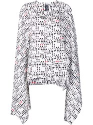Thomas Wylde 'Smoke' Cape Blouse White