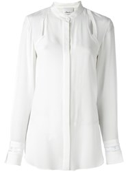 3.1 Phillip Lim Cut Out Detail Shirt White