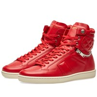 Saint Laurent 34H Quilted Sneaker Red