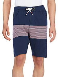 Howe Backside Striped Shorts Blue