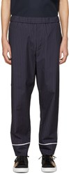 3.1 Phillip Lim Navy Pinstripe Trousers