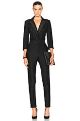 Veronica Beard Daffodil Tuxedo Jumpsuit In Black