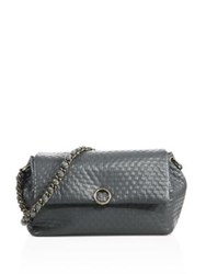 Agnona Babe Leather Chain Shoulder Bag Anthracite
