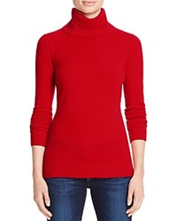 Aqua Cashmere Turtleneck Cashmere Sweater Apple Red