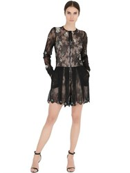 Fabiana Milazzo Embellished Tulle And Lace Romper