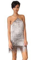 Rachel Zoe Metallic Fringe Dress Copper