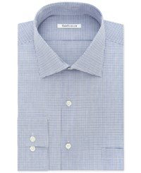 Van Heusen Men's Classic Fit Flex Collar Multi Check Dress Shirt Blue