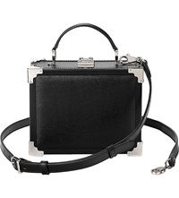 Aspinal Of London Trunk Clutch Bag Black
