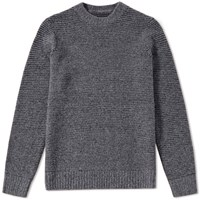 Folk Stripe Wool Jumper Grey