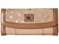 The Sak Iris Flap Wallet Taupe Dots Wallet Handbags