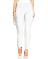 Alfani Tummy Control Skinny Pants Only At Macy's Bright White