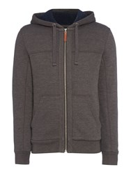 Criminal Men's Turner Borg Lined Hoodie Charcoal Marl