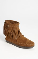 Women's Minnetonka Fringed Moccasin Bootie