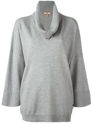 Fay Roll Neck Jumper Grey